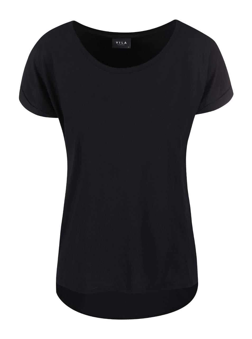 Černé oversize tričko VILA Dreamers