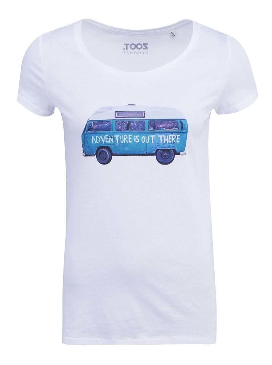 Bílé dámské tričko ZOOT Originál Adventure is Out There