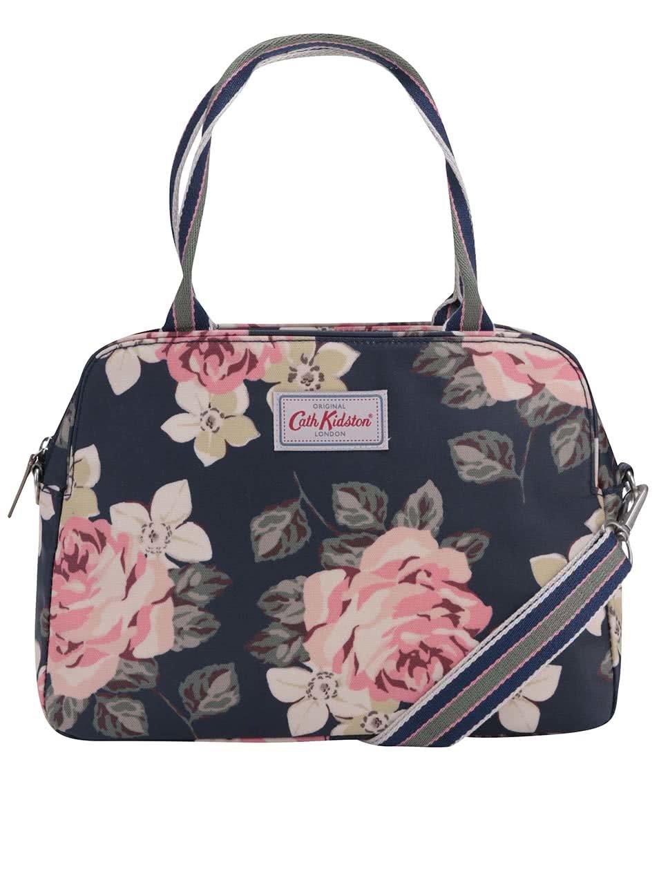 Tmavě modrá květovaná kabelka Cath Kidston