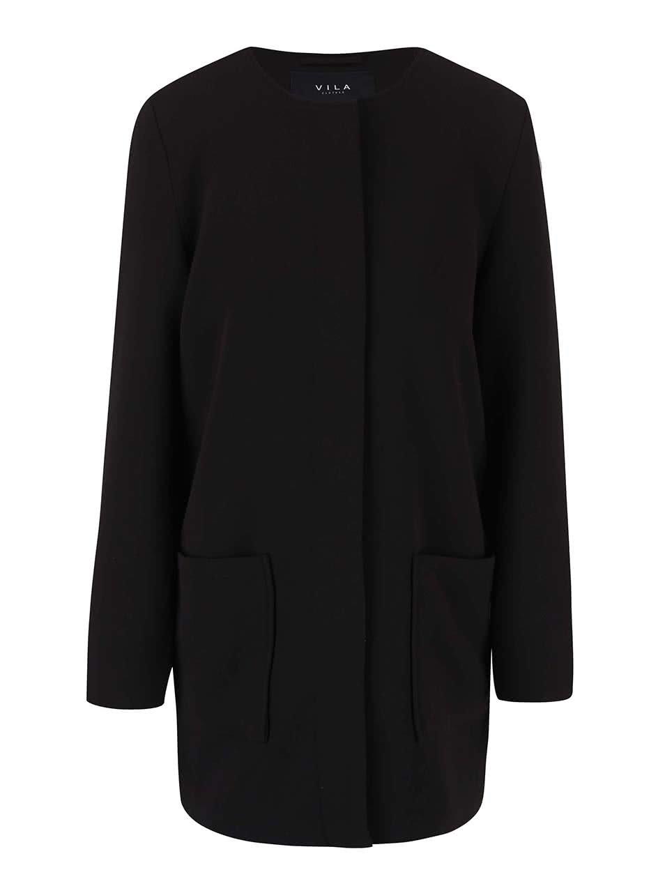 Černý kabát VILA Cory