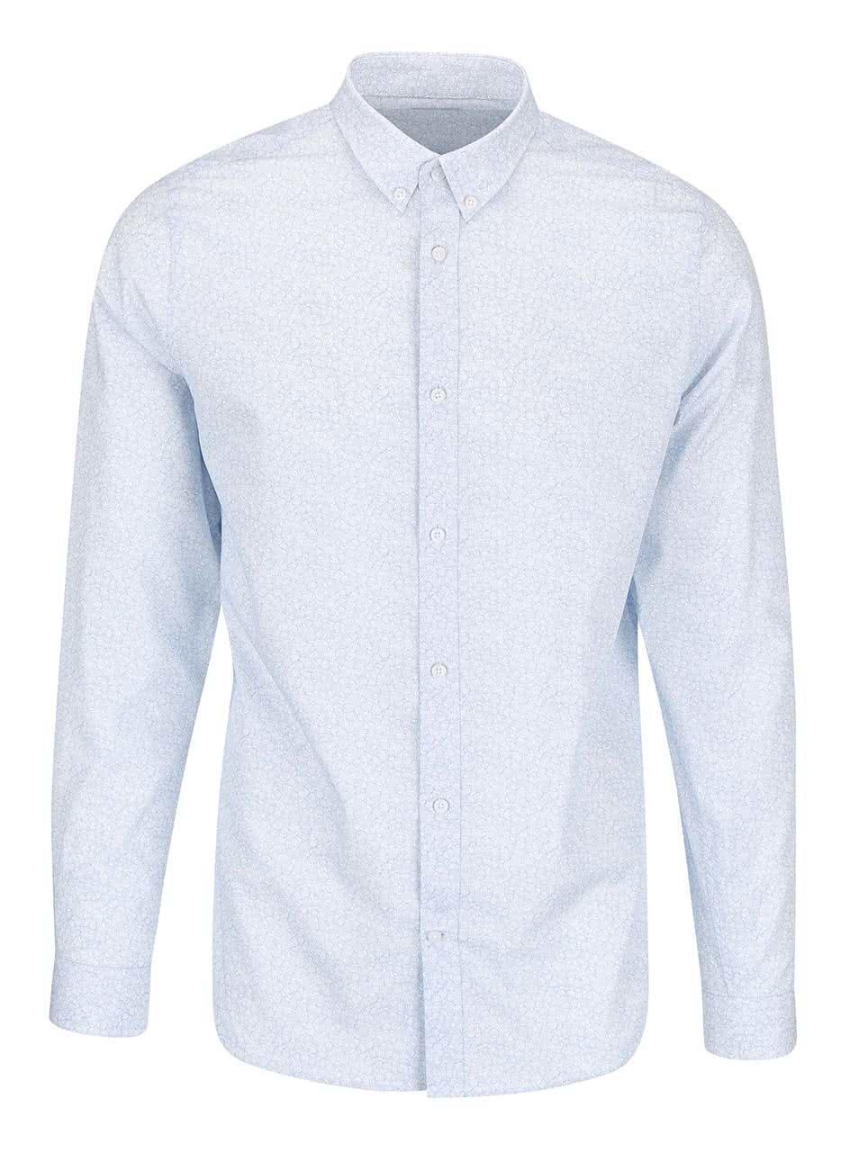 Bílo-modrá košile se vzorem Selected Homme Roy