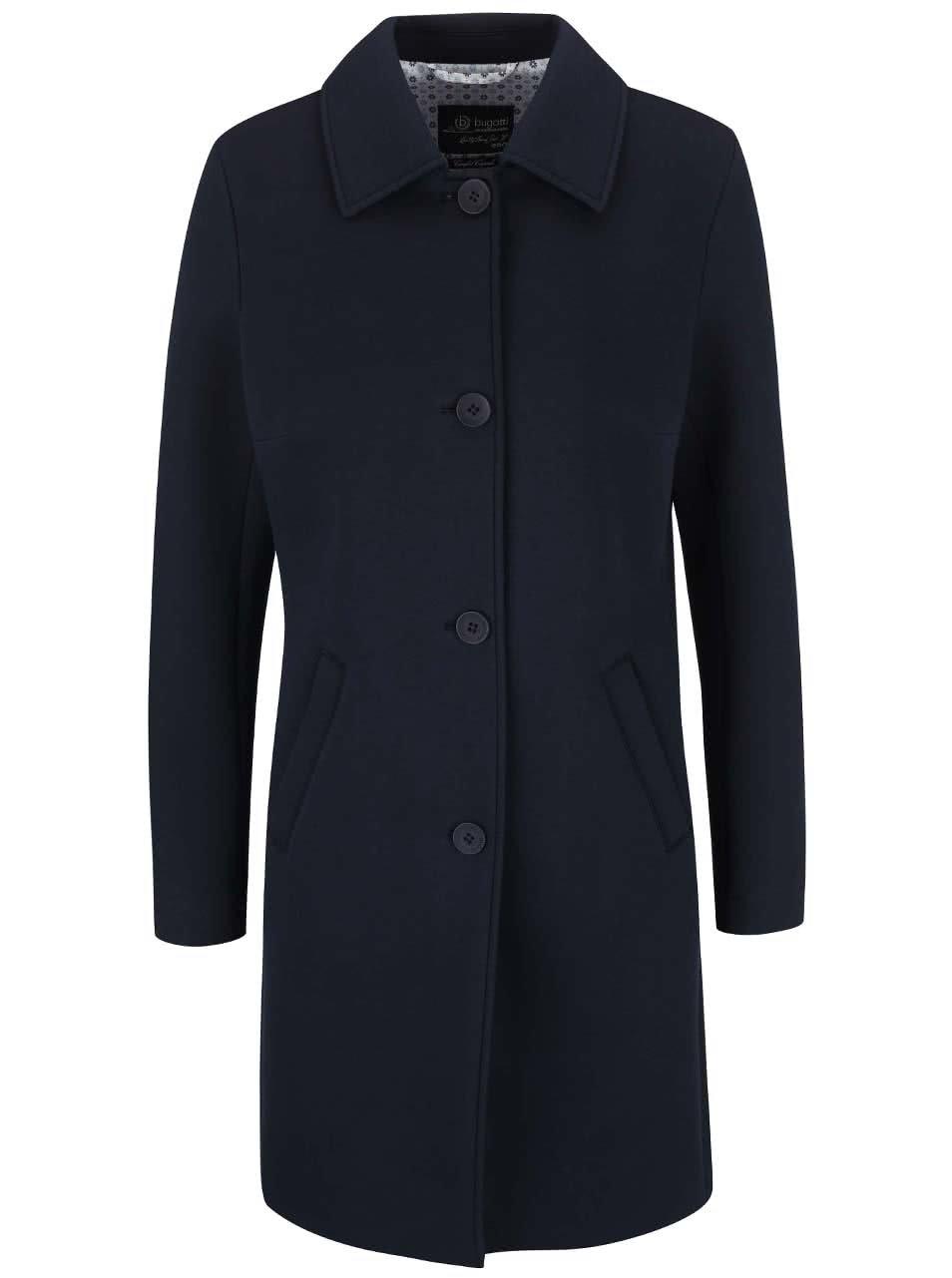 Tmavě modrý dámský kabát bugatti