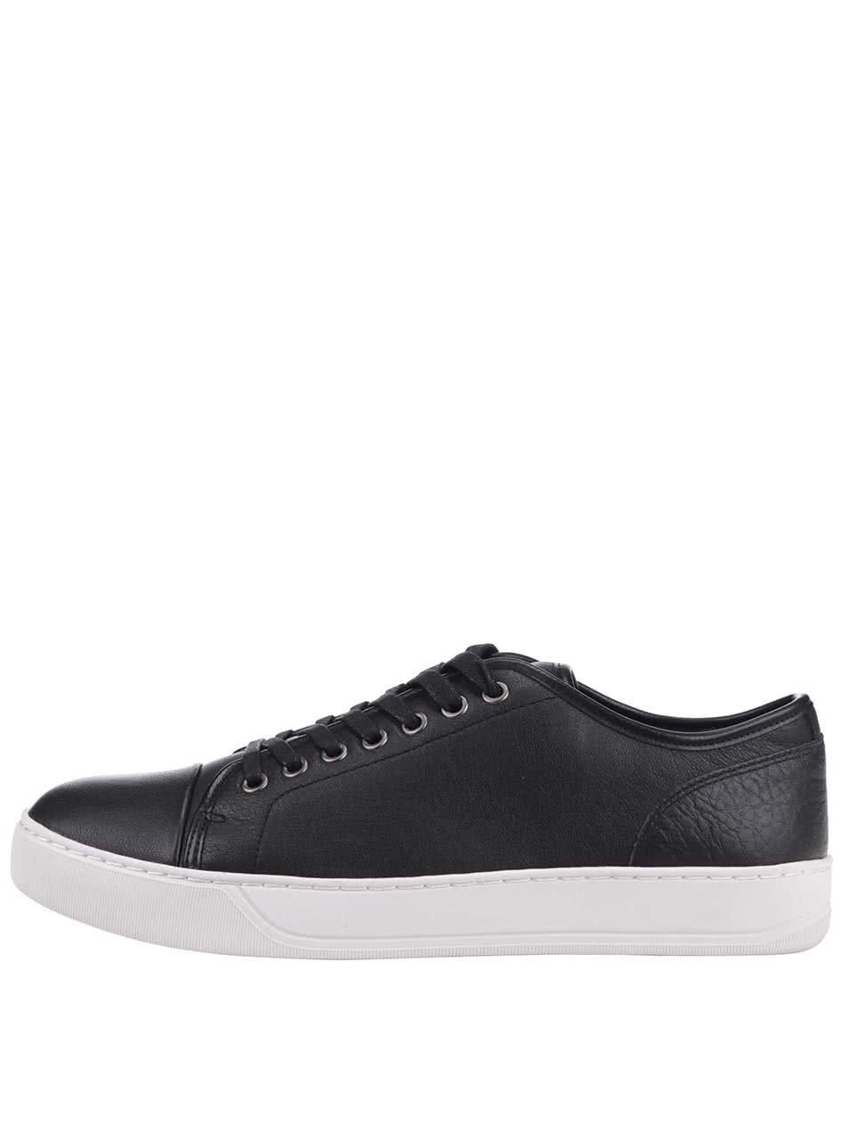 Černé pánské kožené tenisky ALDO Gelassa