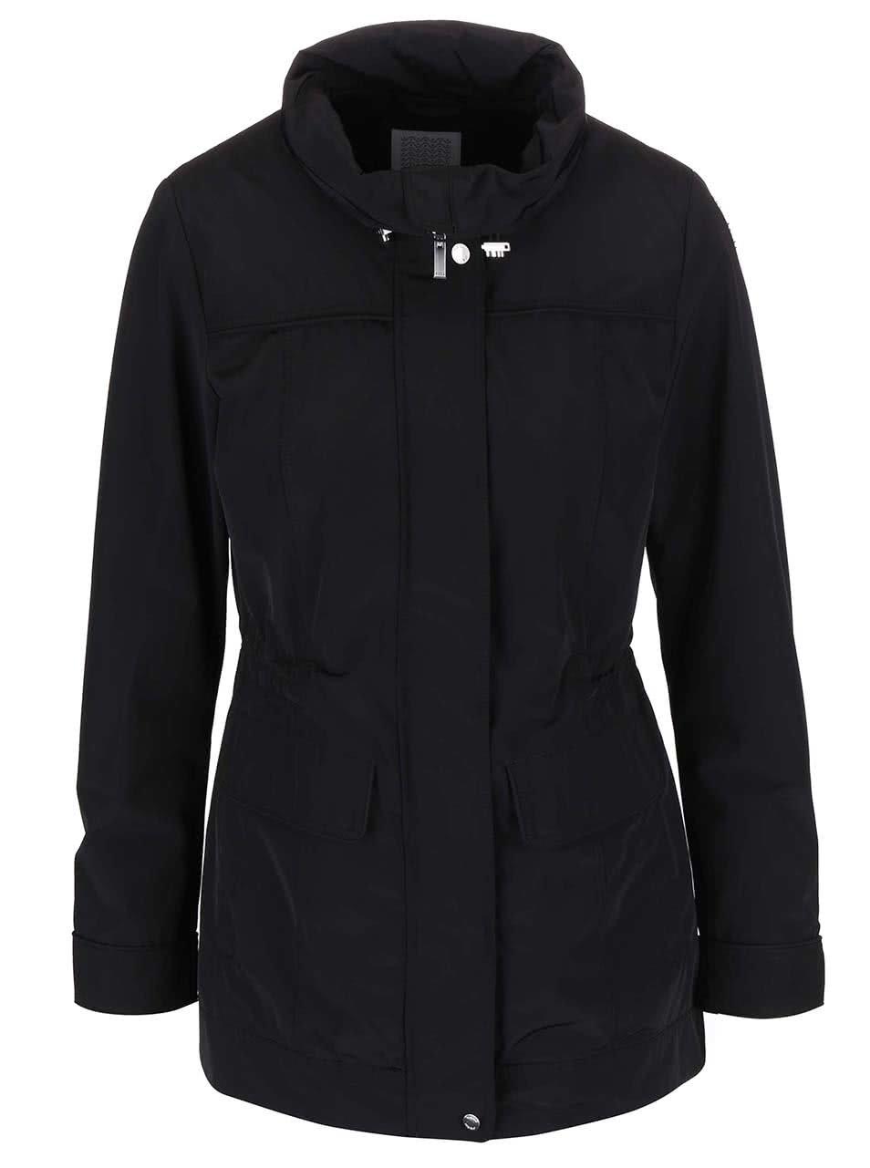Černý dámský stahovací kabát Geox