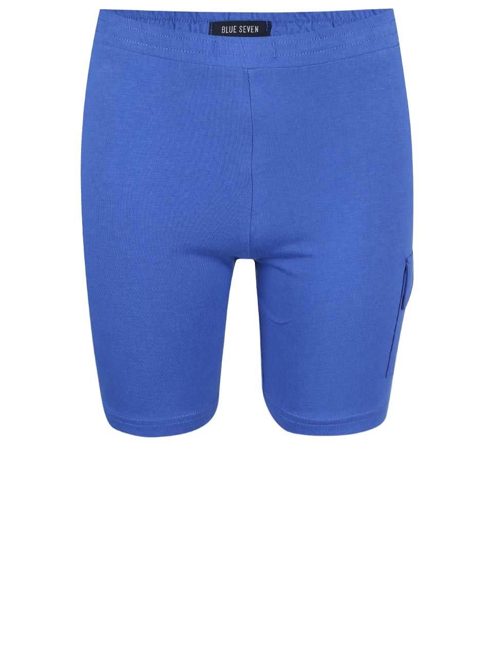 Modré dětské teplákové kraťasy Blue Seven