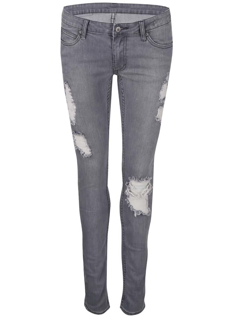 Šedé dámské úzké džíny Cheap Monday