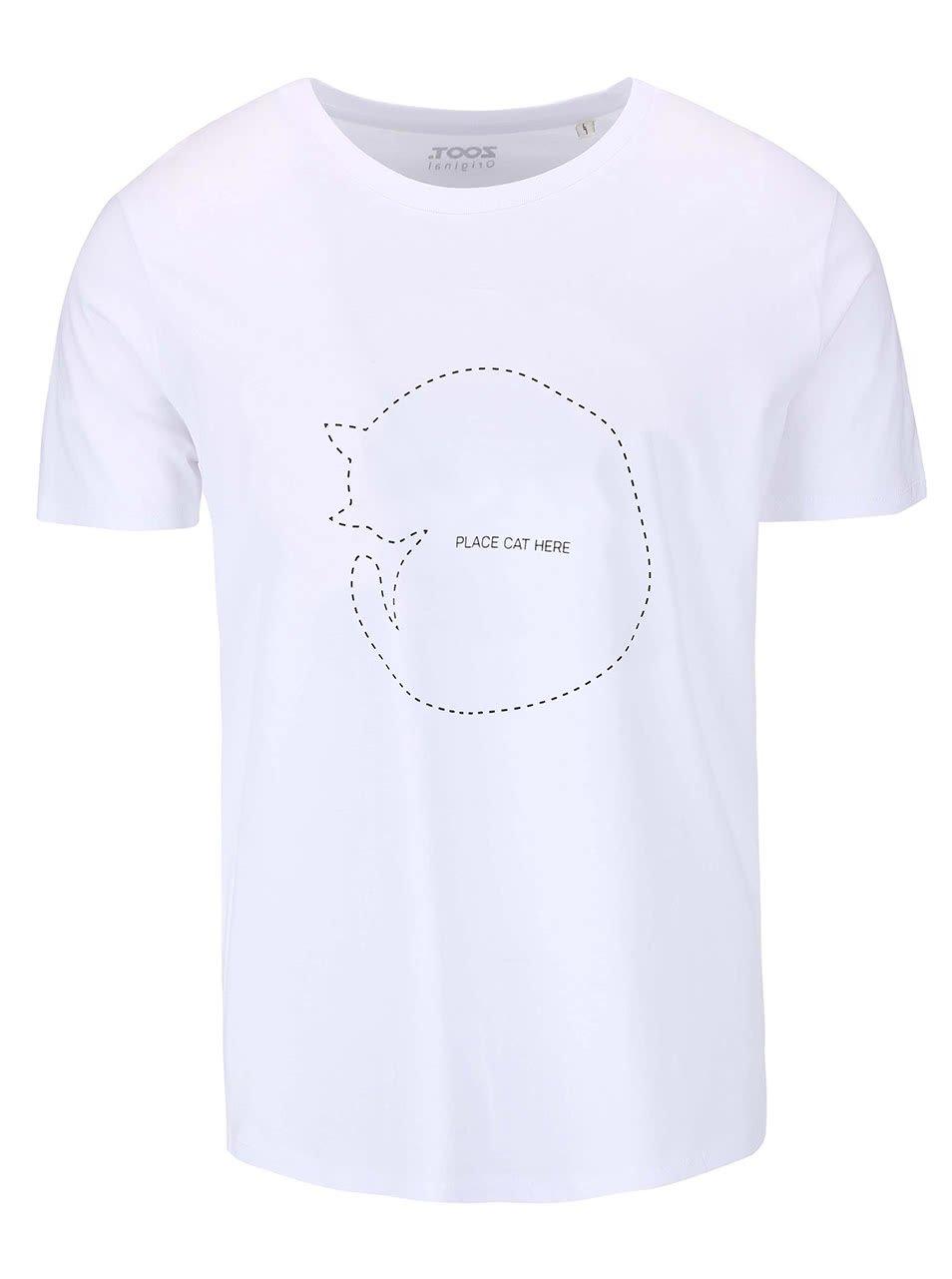 Biele pánske tričko ZOOT Originál Place Cat Here