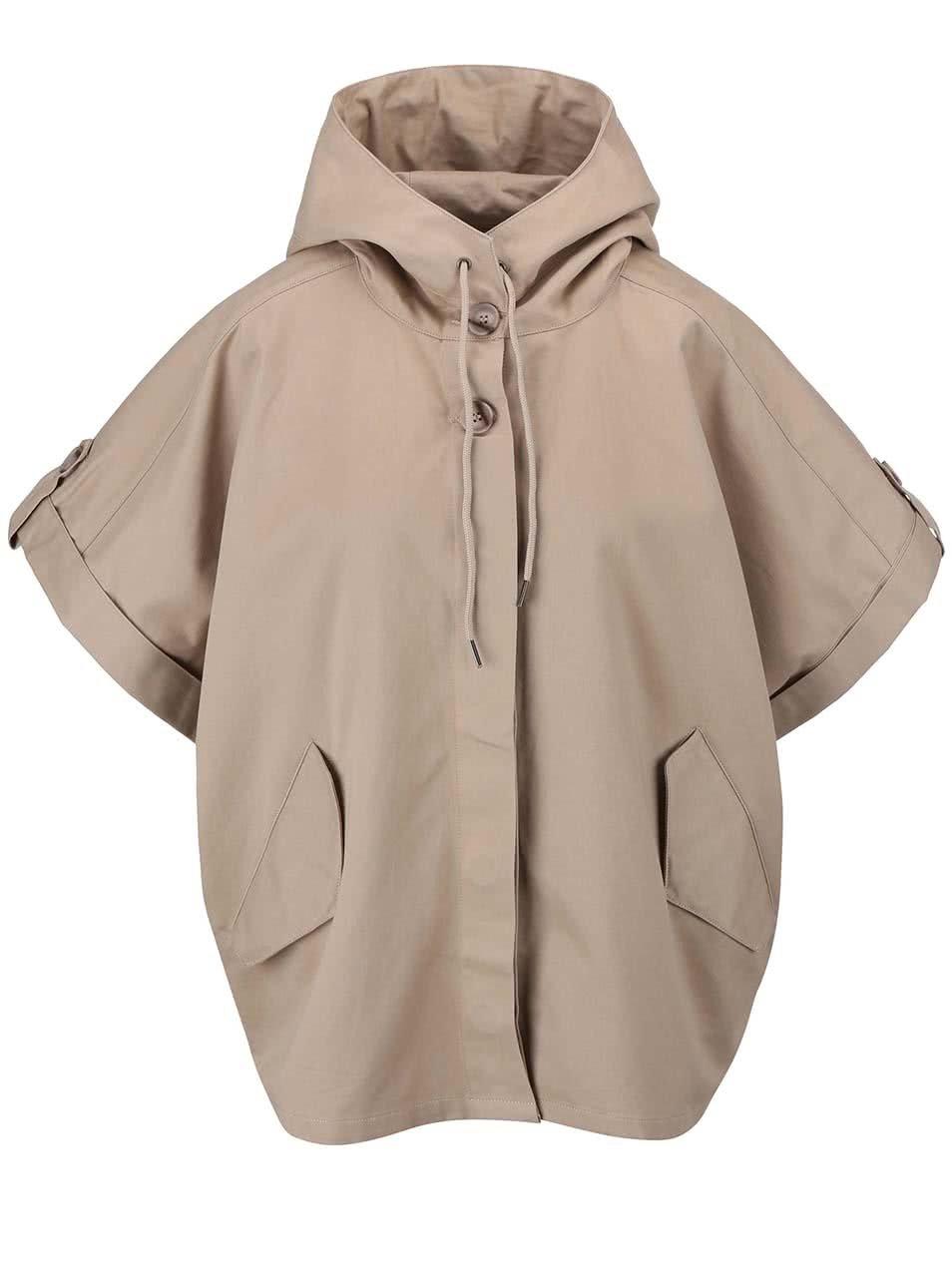 Béžový oversized kabát s kimonovými rukávy YAYA