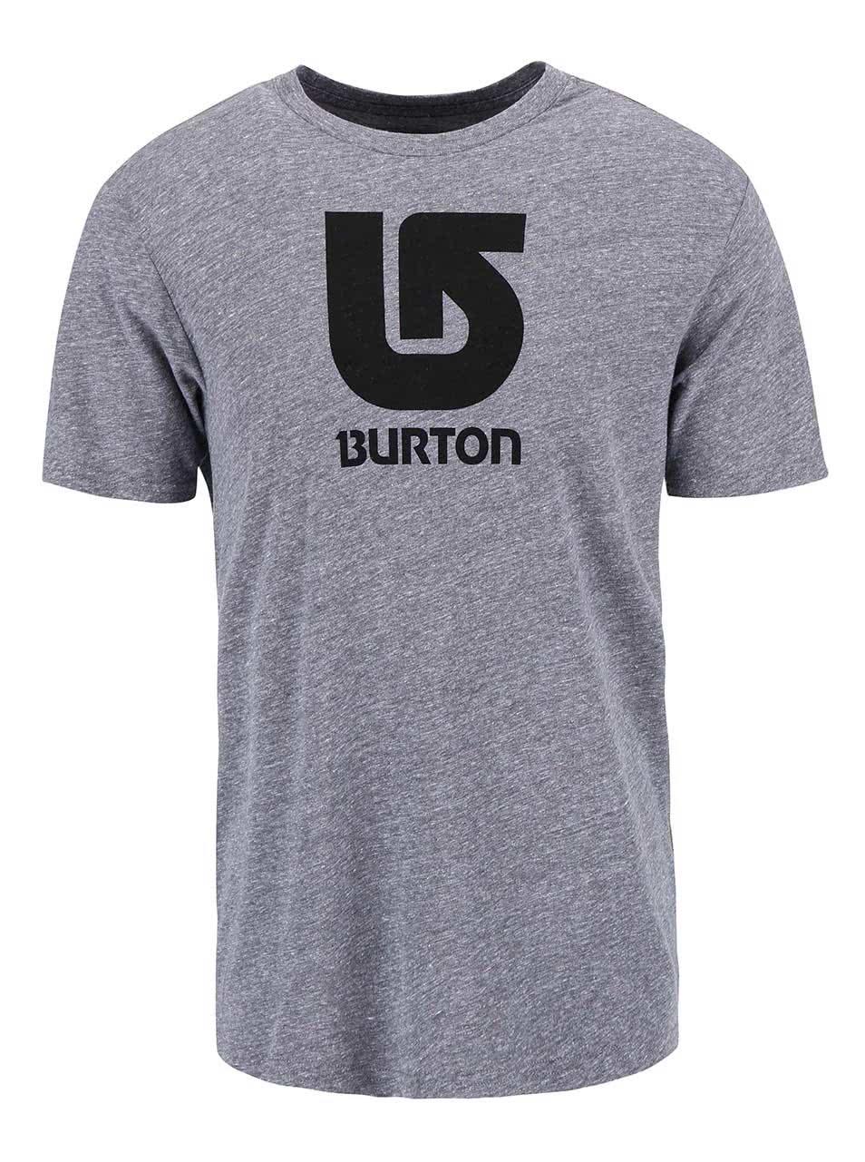 Šedé pánské triko Burton Logo