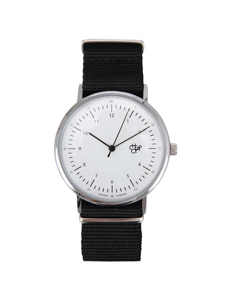 Černo-bílé hodinky Cheapo Harold