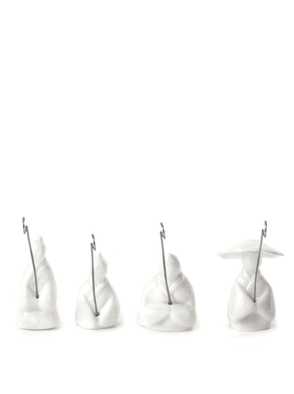 Set bílých držáků na čajové sáčky Kikkerland