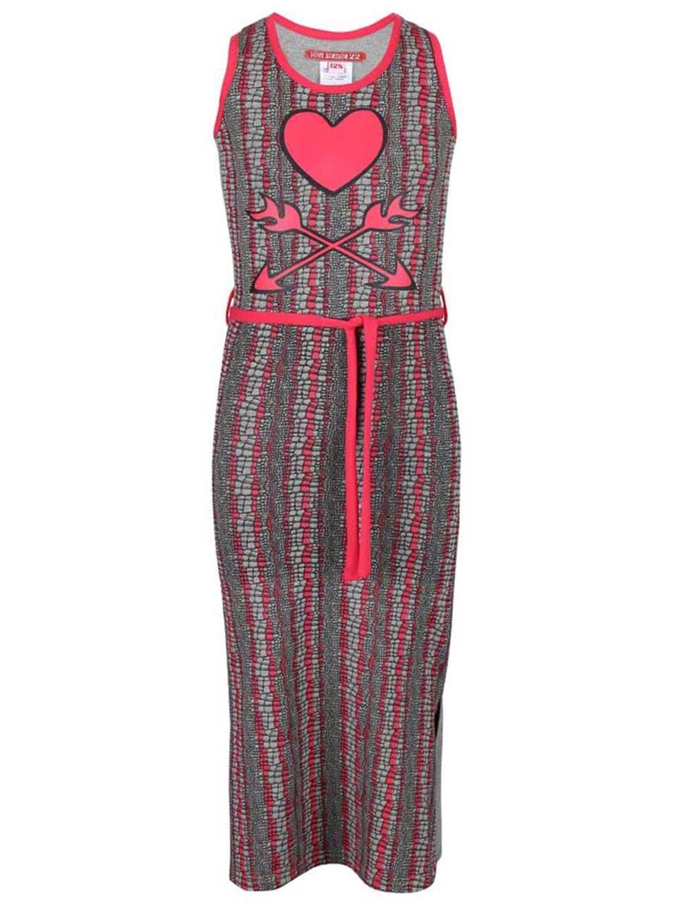 Šedo-růžové holčičí šaty s potiskem LoveStation22 Kyra