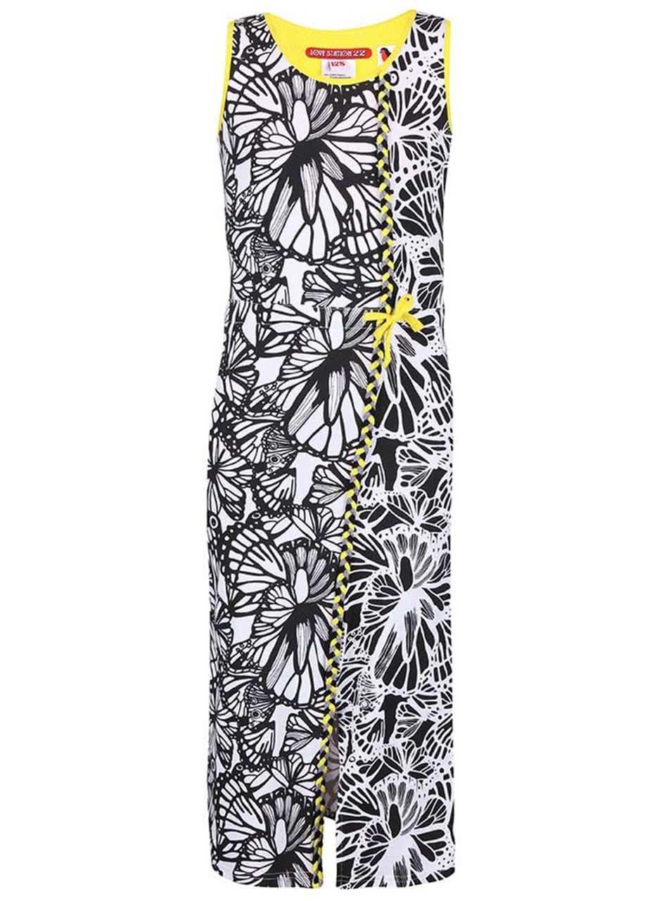 Černo-bílé vzorované holčičí šaty LoveStation22 Lotte