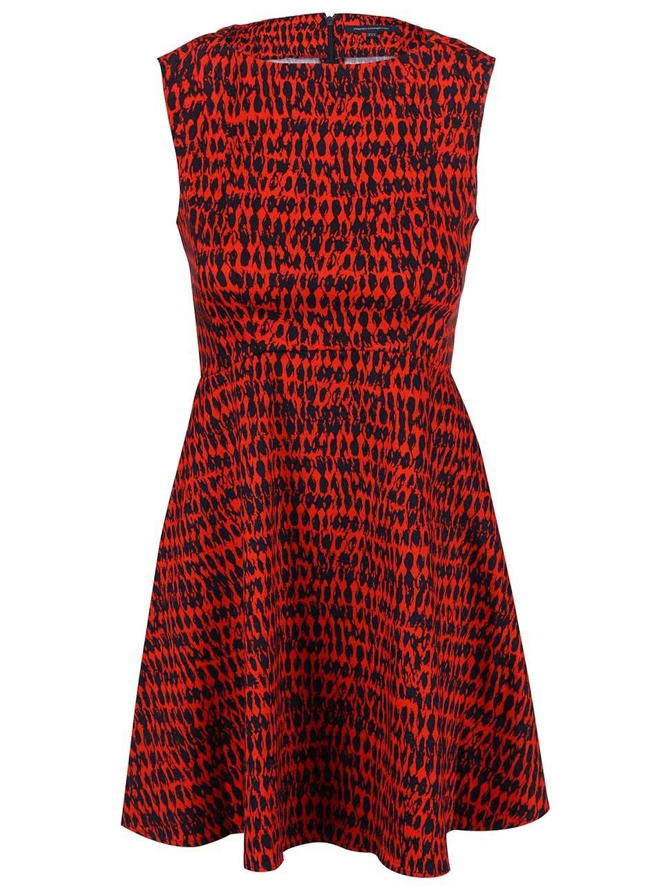 Černo-červené vzorované šaty French Connection Canyon