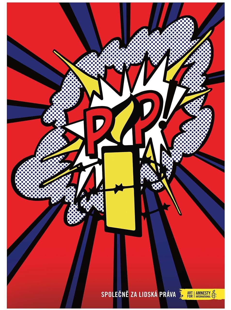 """""""Dobrý"""" plakát Pop pro Amnesty International"""