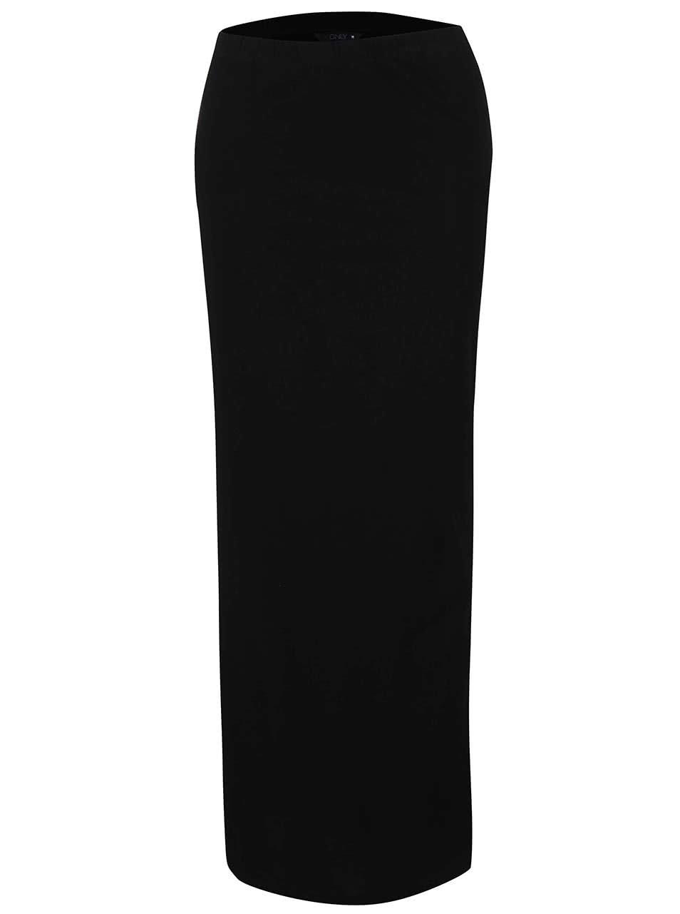 Černá dlouhá sukně s rozparky ONLY Abbie