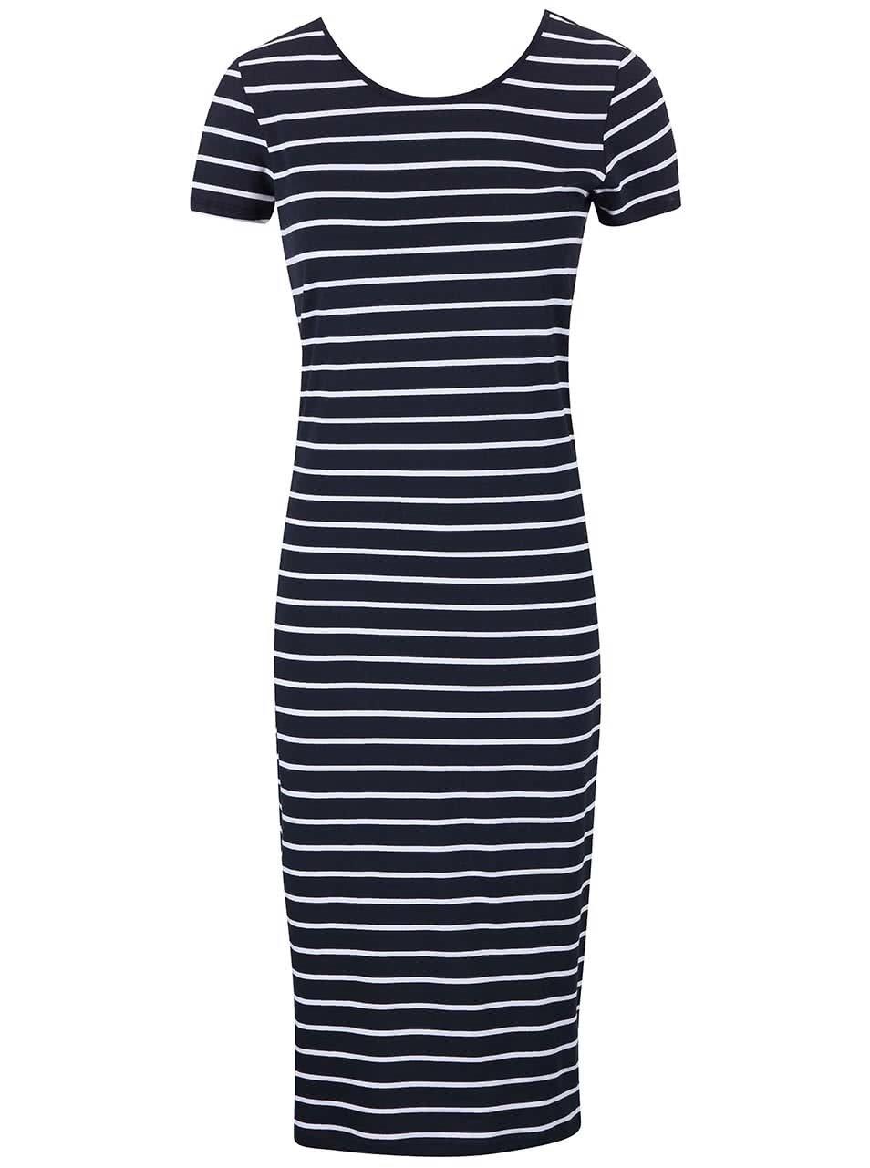Tmavě modré dlouhé šaty s pruhy Only Abbie