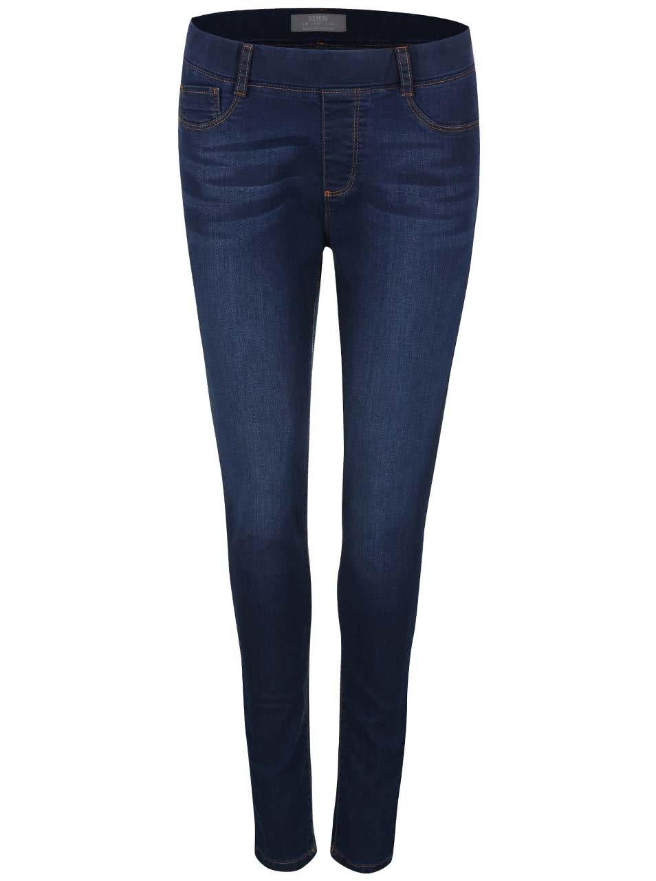 Modré skinny džíny Dorothy Perkins ŽENY   Kalhoty 9c564f2b12