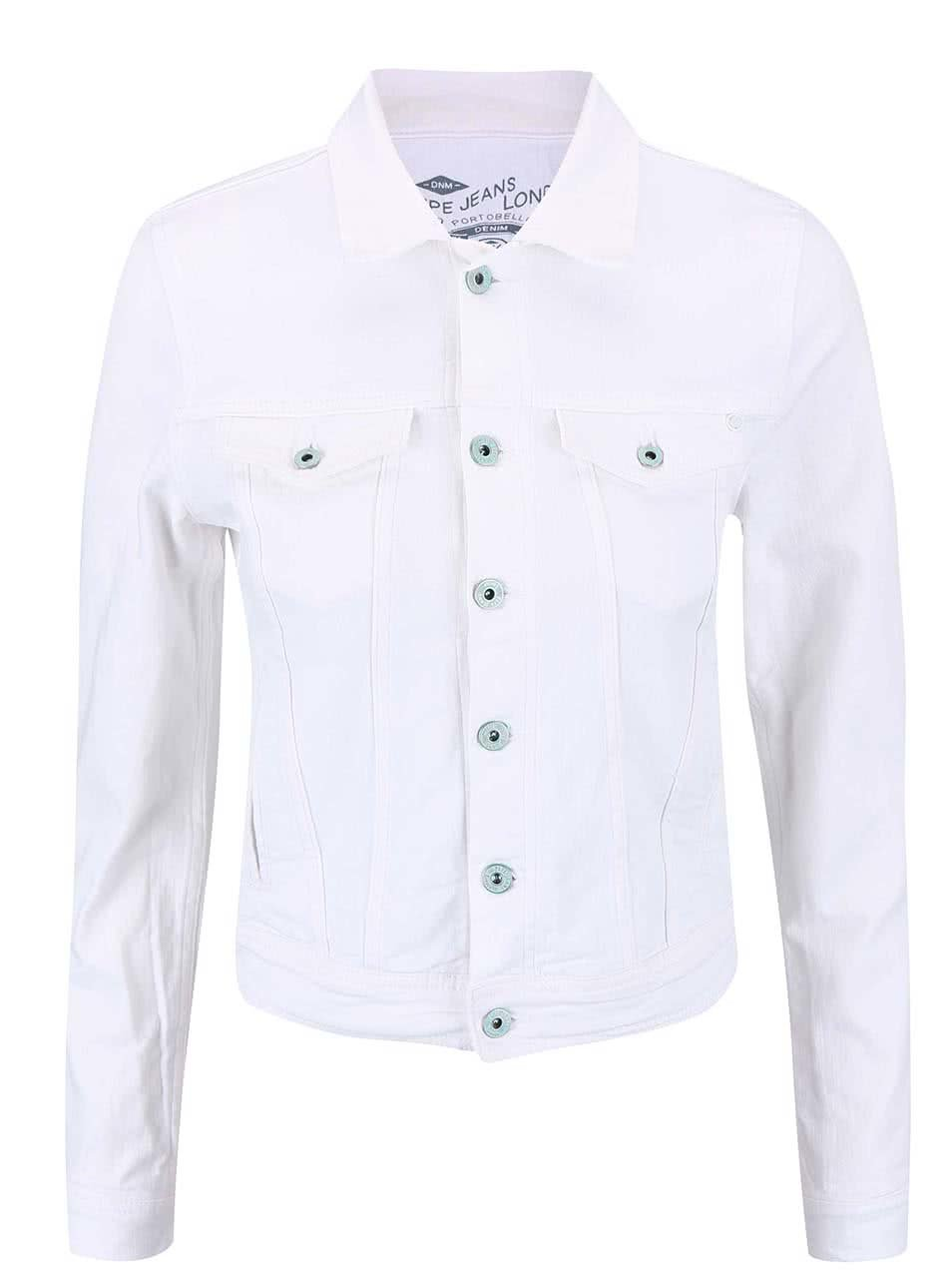 Bílá džínová bunda Pepe Jeans