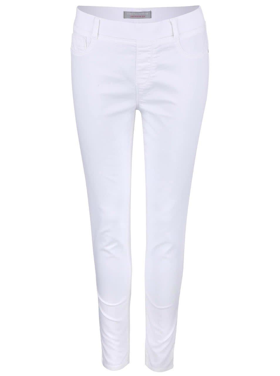 Bílé strečové džíny Dorothy Perkins Petite Eden