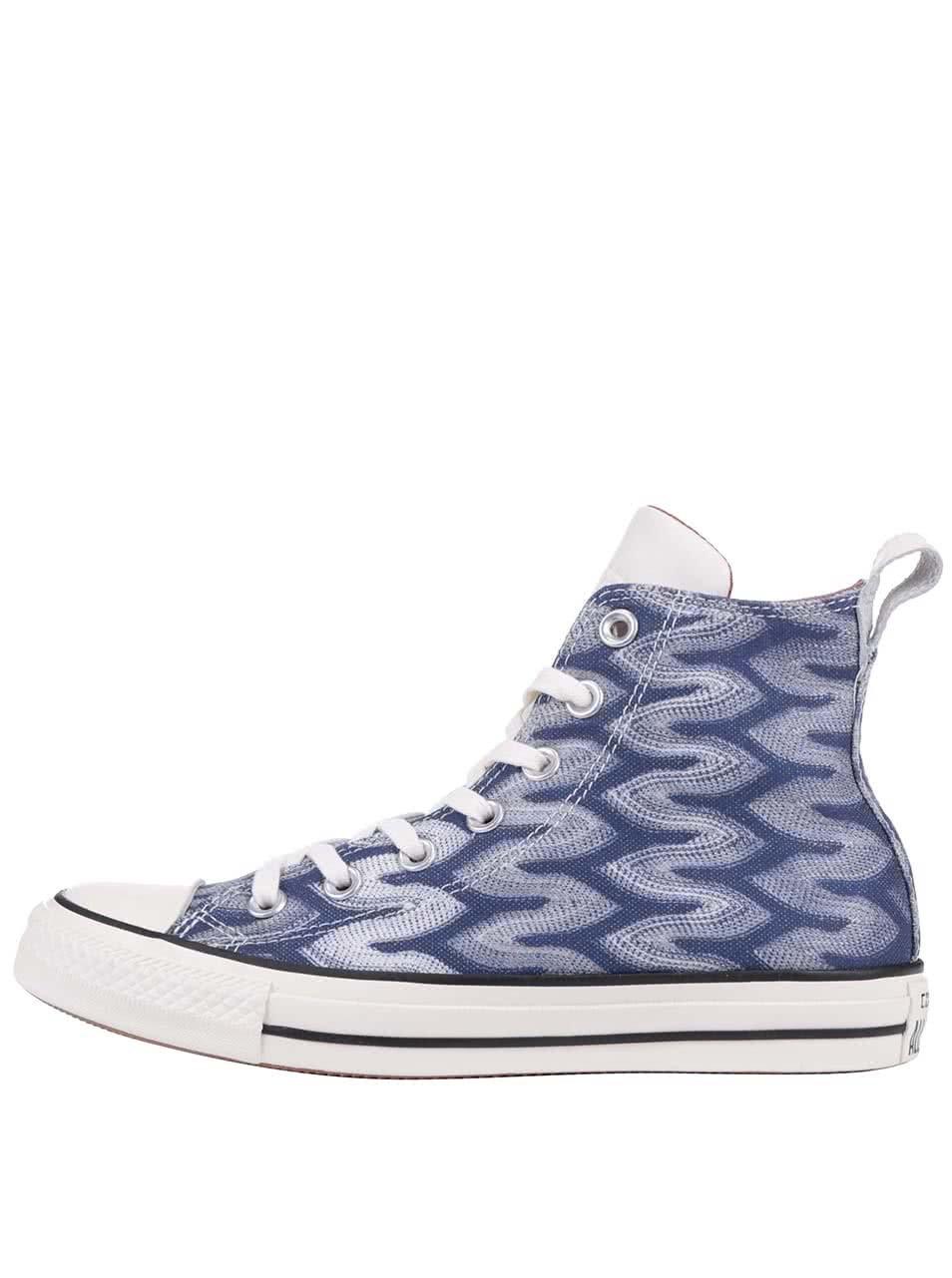Modro-bílé vzorované unisex tenisky Converse Chuck Taylor All Star