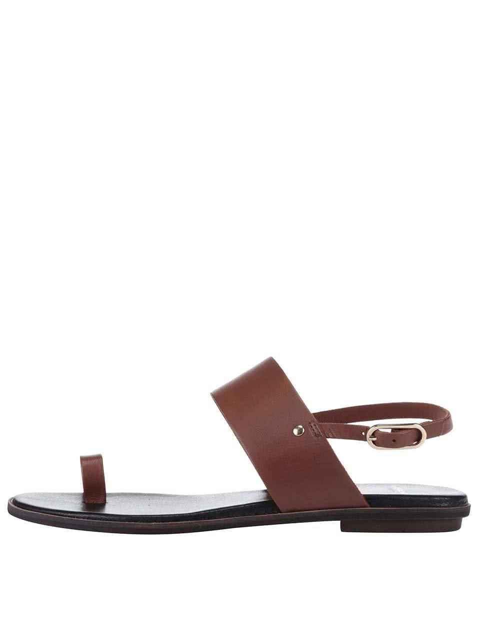Hnědé kožené sandály Vagabond Natalia