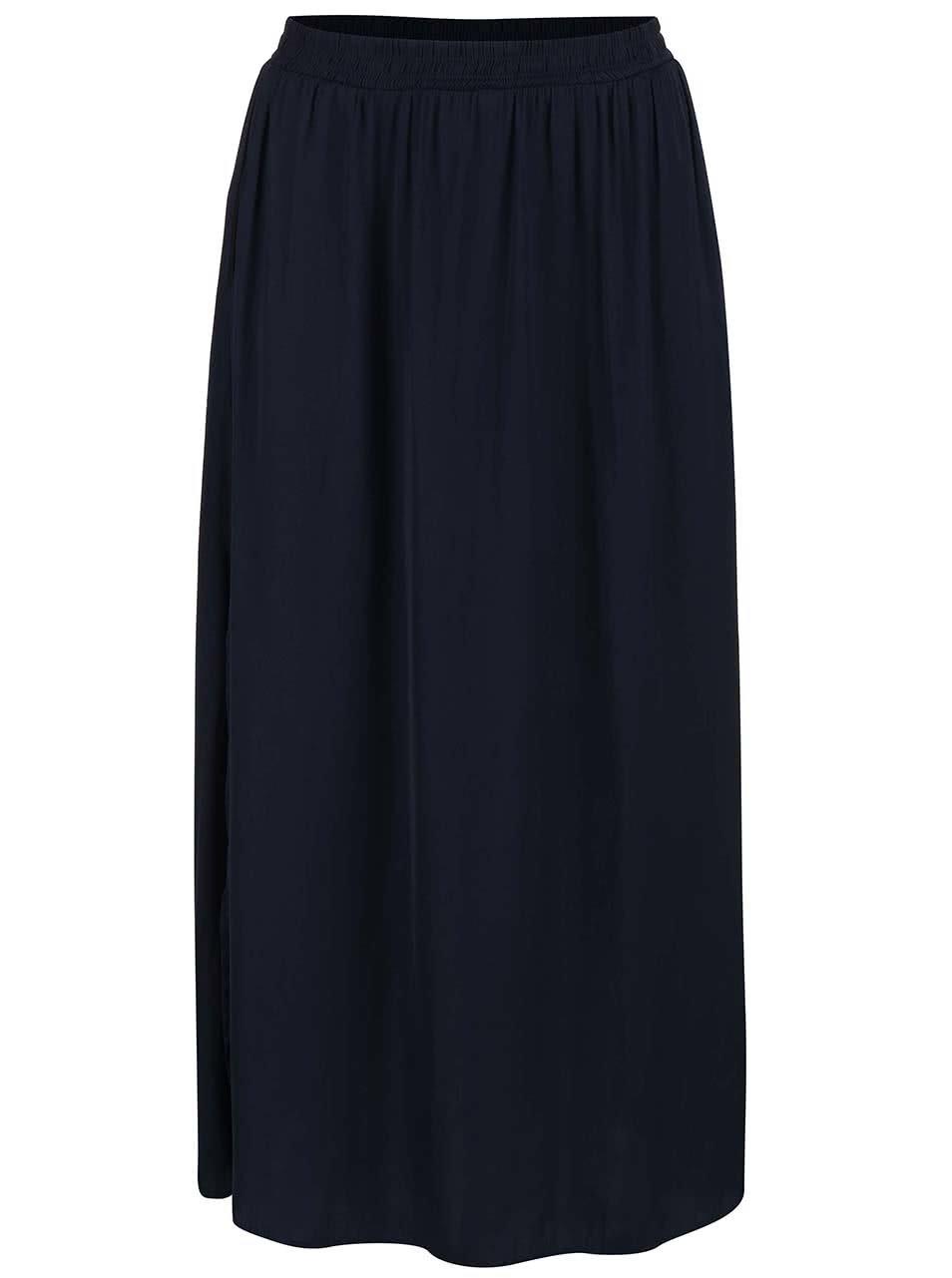 Tmavě modrá dlouhá sukně Vero Moda Nellie