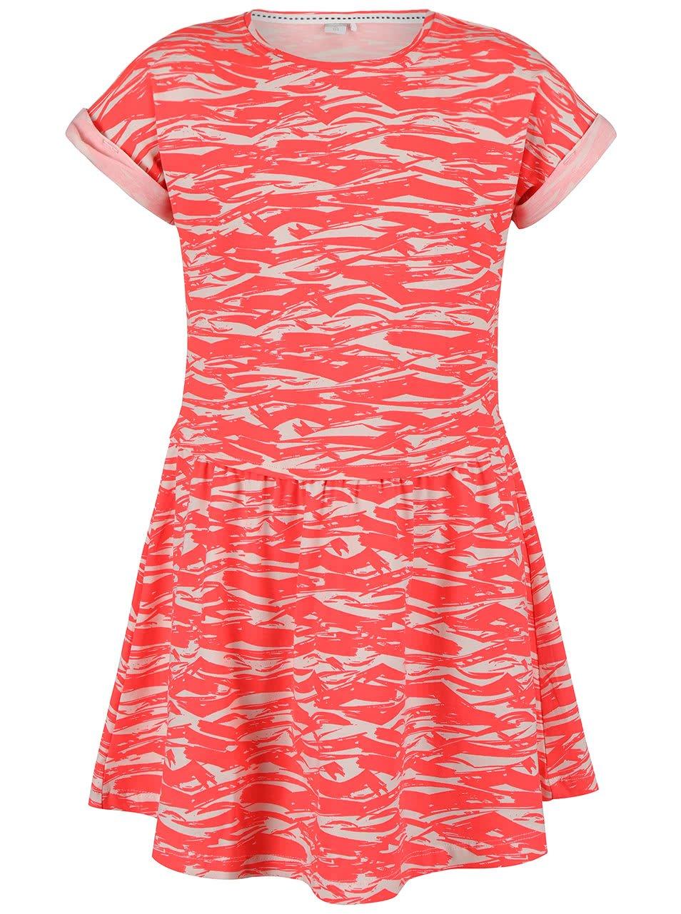 Korálové holčičí vzorované šaty name it Gemia