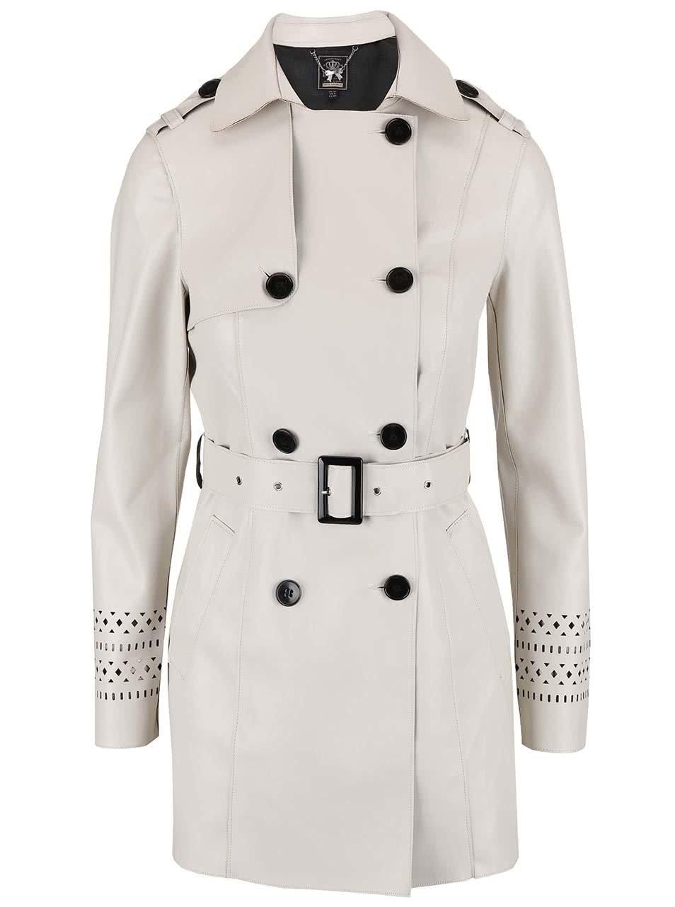 Béžový lehký kabát s páskem Lipsy