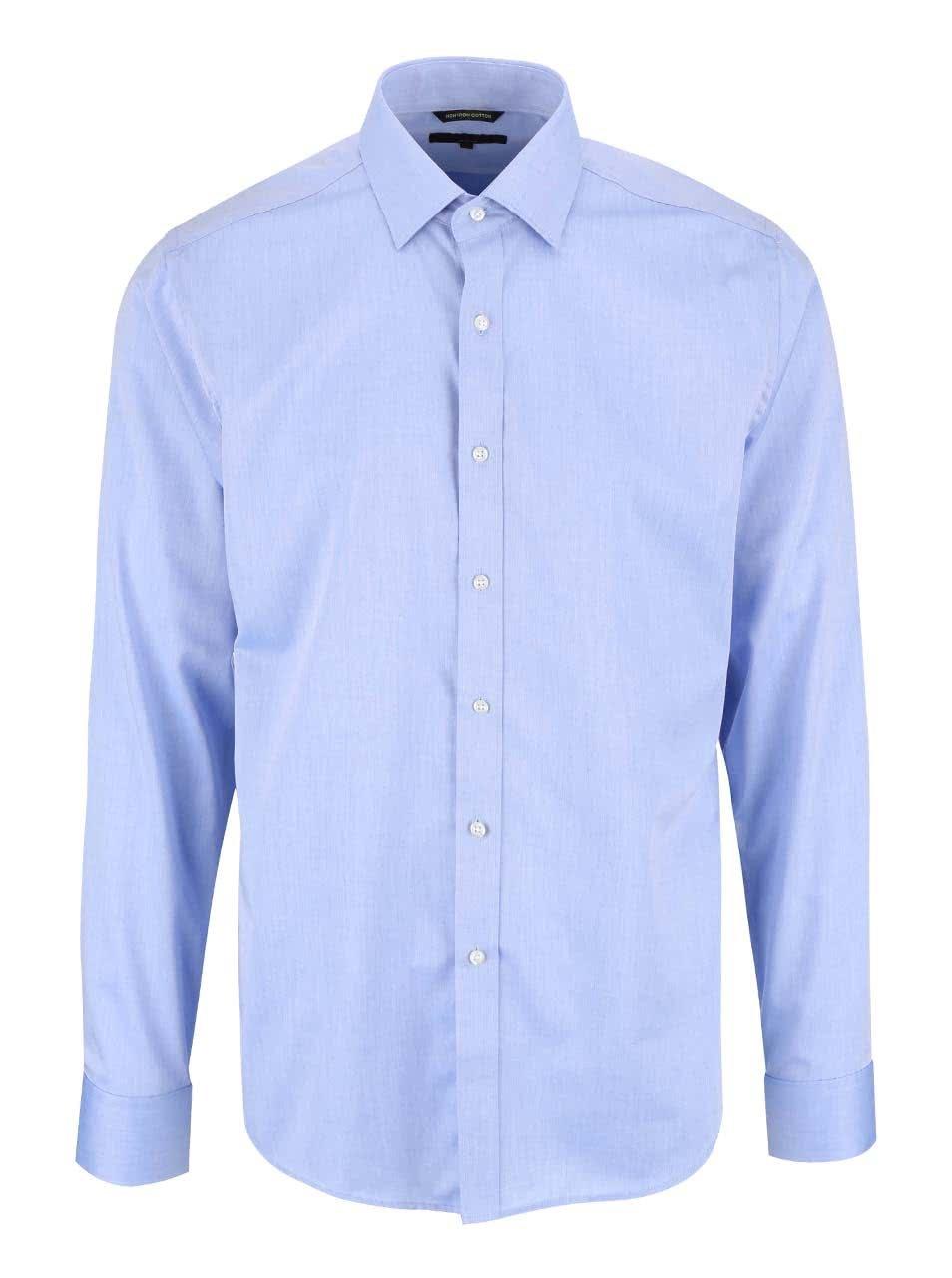 Světle modrá pánská slim fit košile Seven Seas
