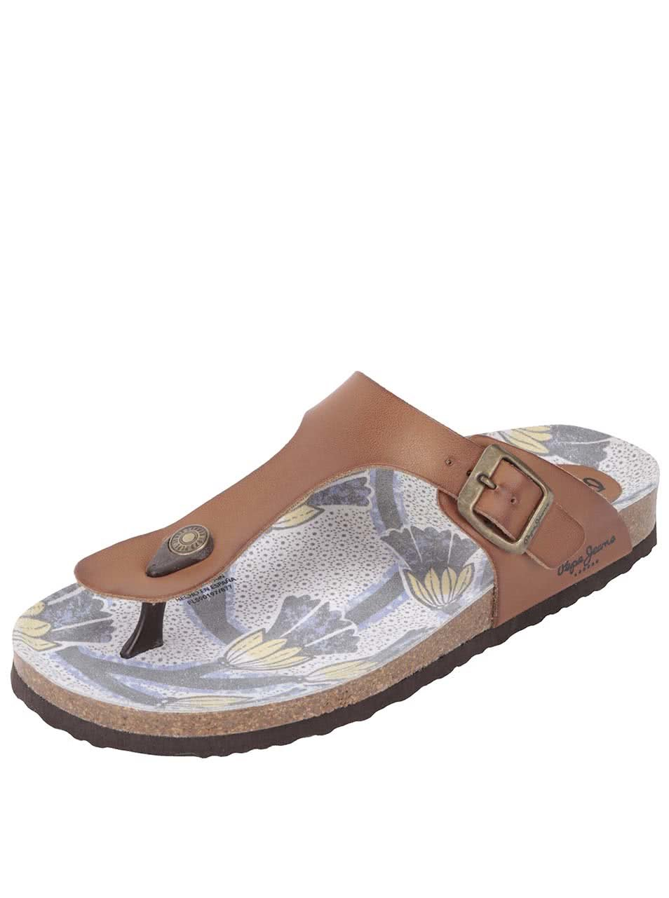 Hnědé dámské pantofle Pepe Jeans
