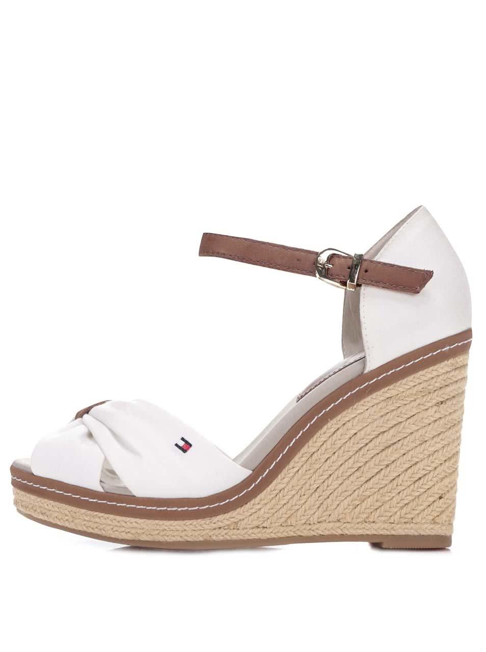 Bílé dámské boty na klínku Tommy Hilfiger