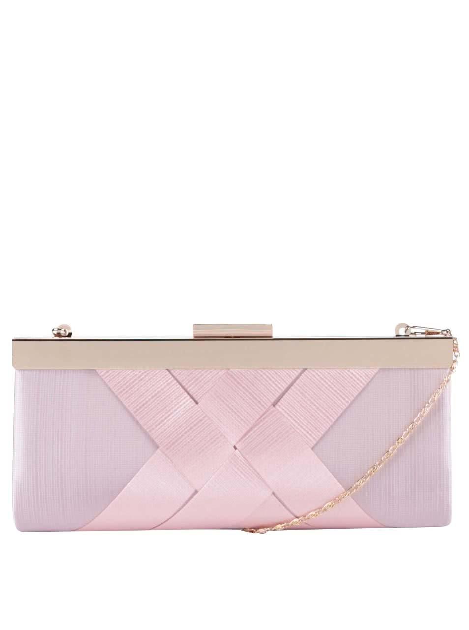 Růžové psaníčko s plisovaným vzorem Dice Handbags
