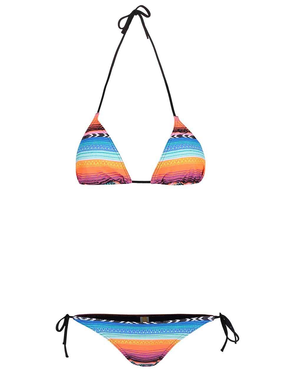 Barevné dvoudílné vzorované plavky Rip Curl Lolita