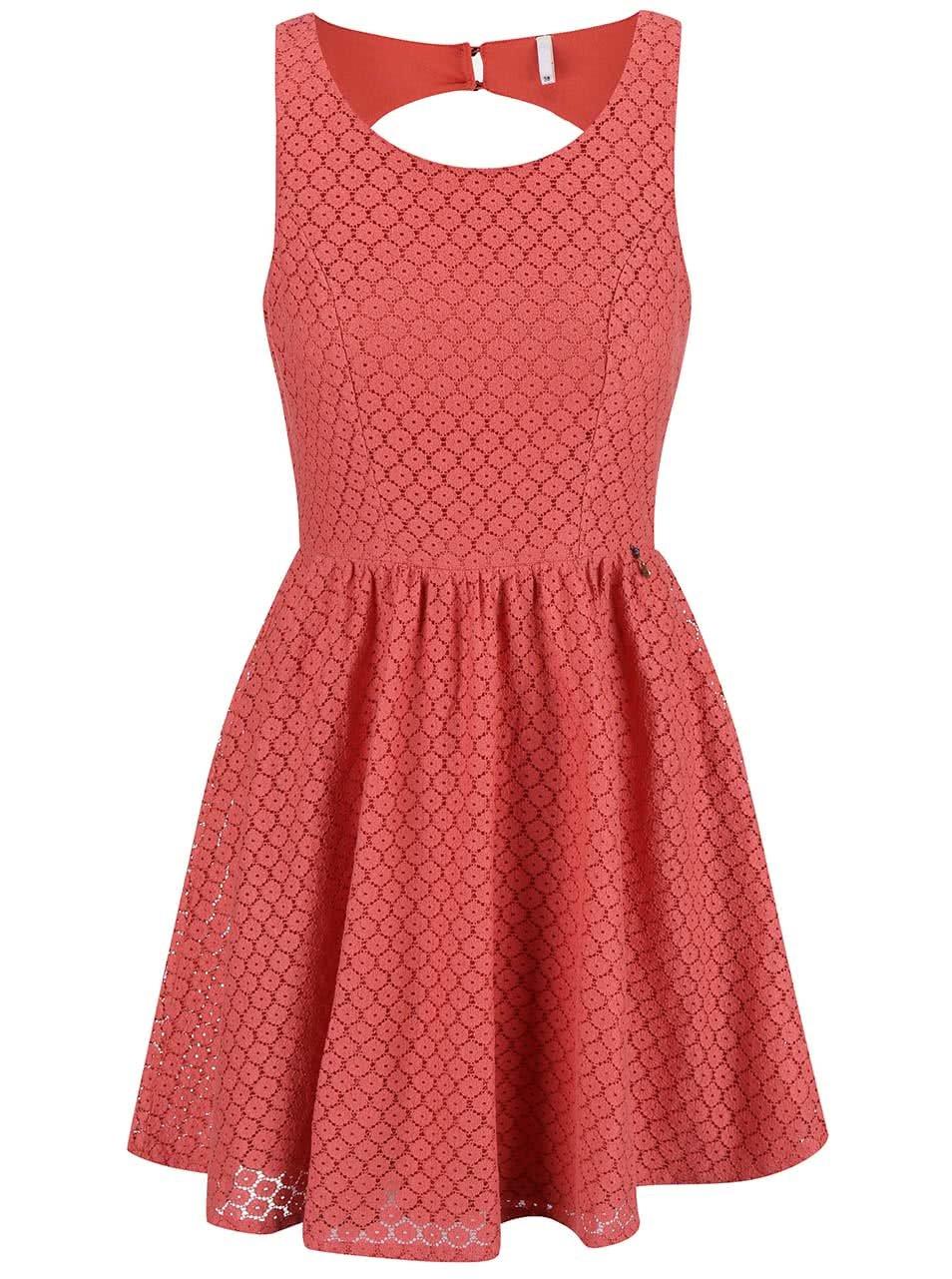 Růžové krajkové šaty ONLY Line Fairy