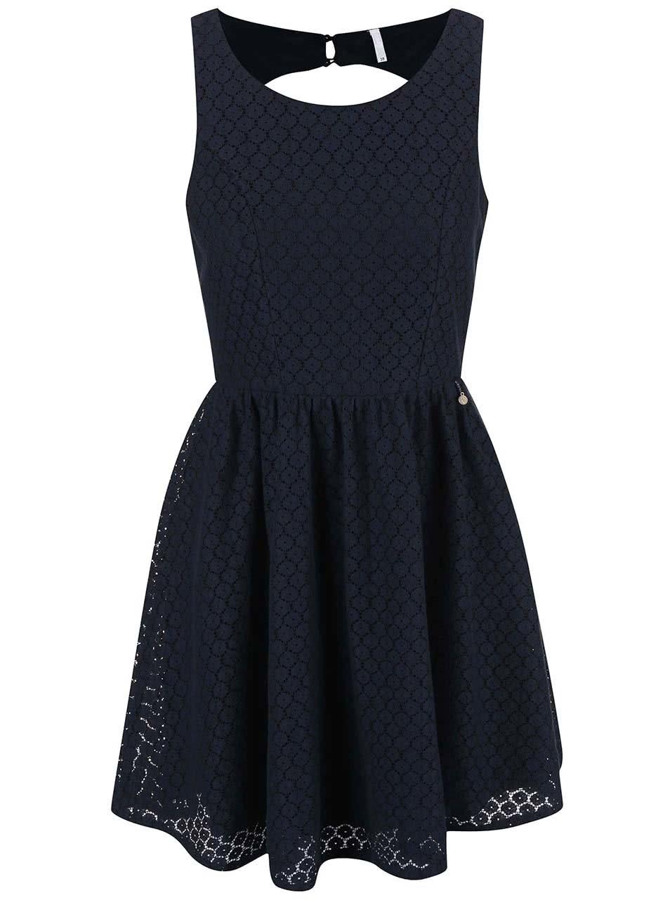 Modré krajkové šaty ONLY Line Fairy