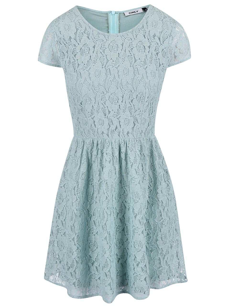 Zelené krajkové šaty ONLY Marun