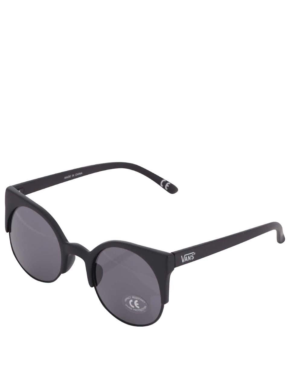 Černé dámské kulaté sluneční brýle VANS