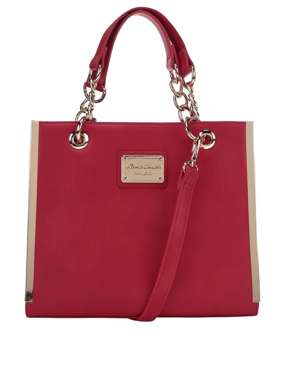 Červená čtvercová kabelka Anna Smith