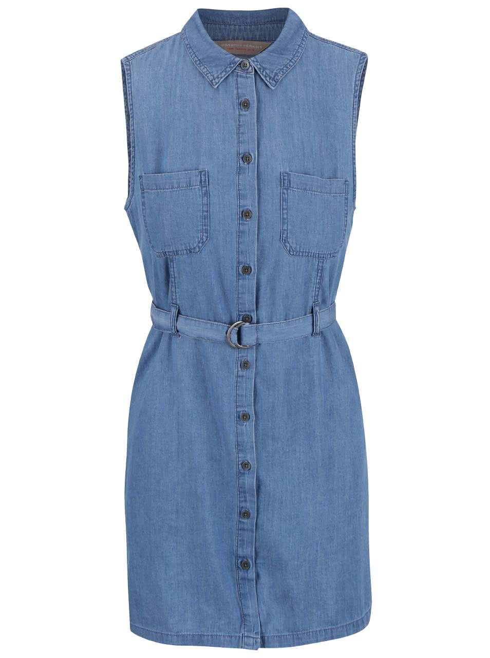 Modré džínové šaty Dorothy Perkins Petite