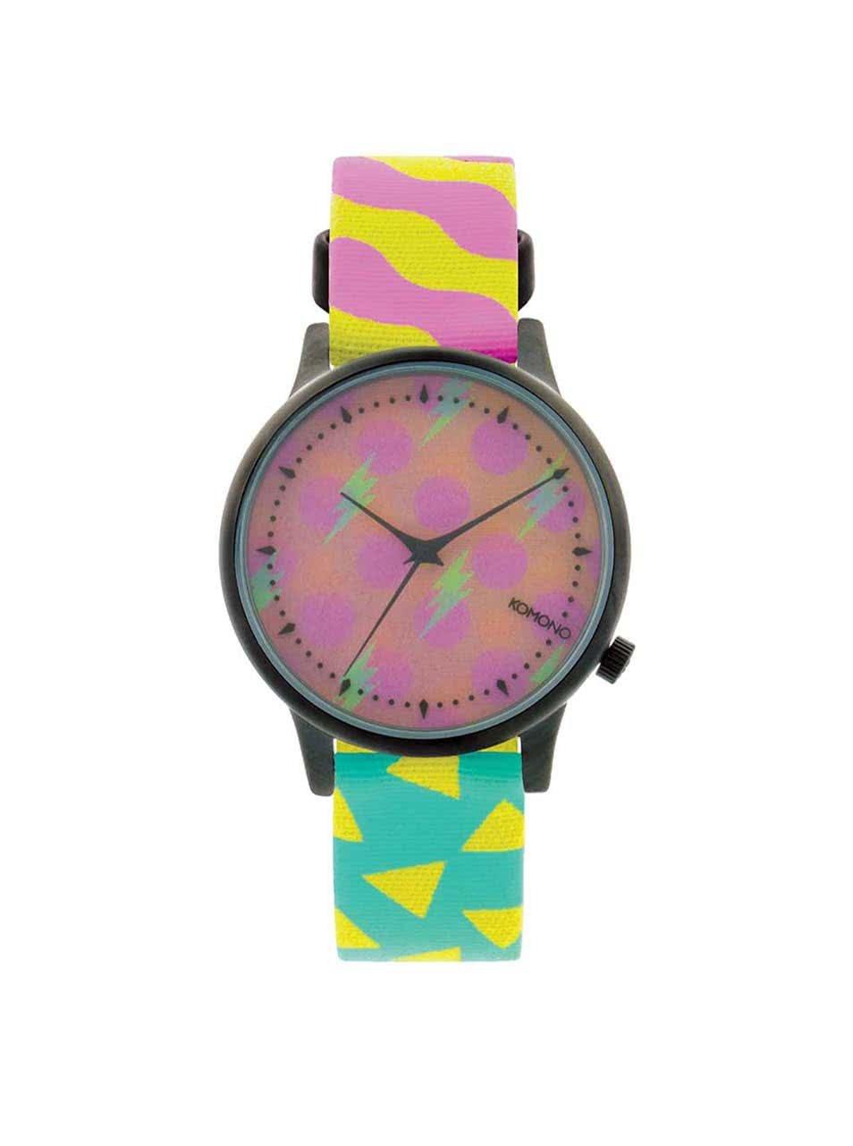 Barevné hodinky s holografickým ciferníkem Komono Estelle Pop