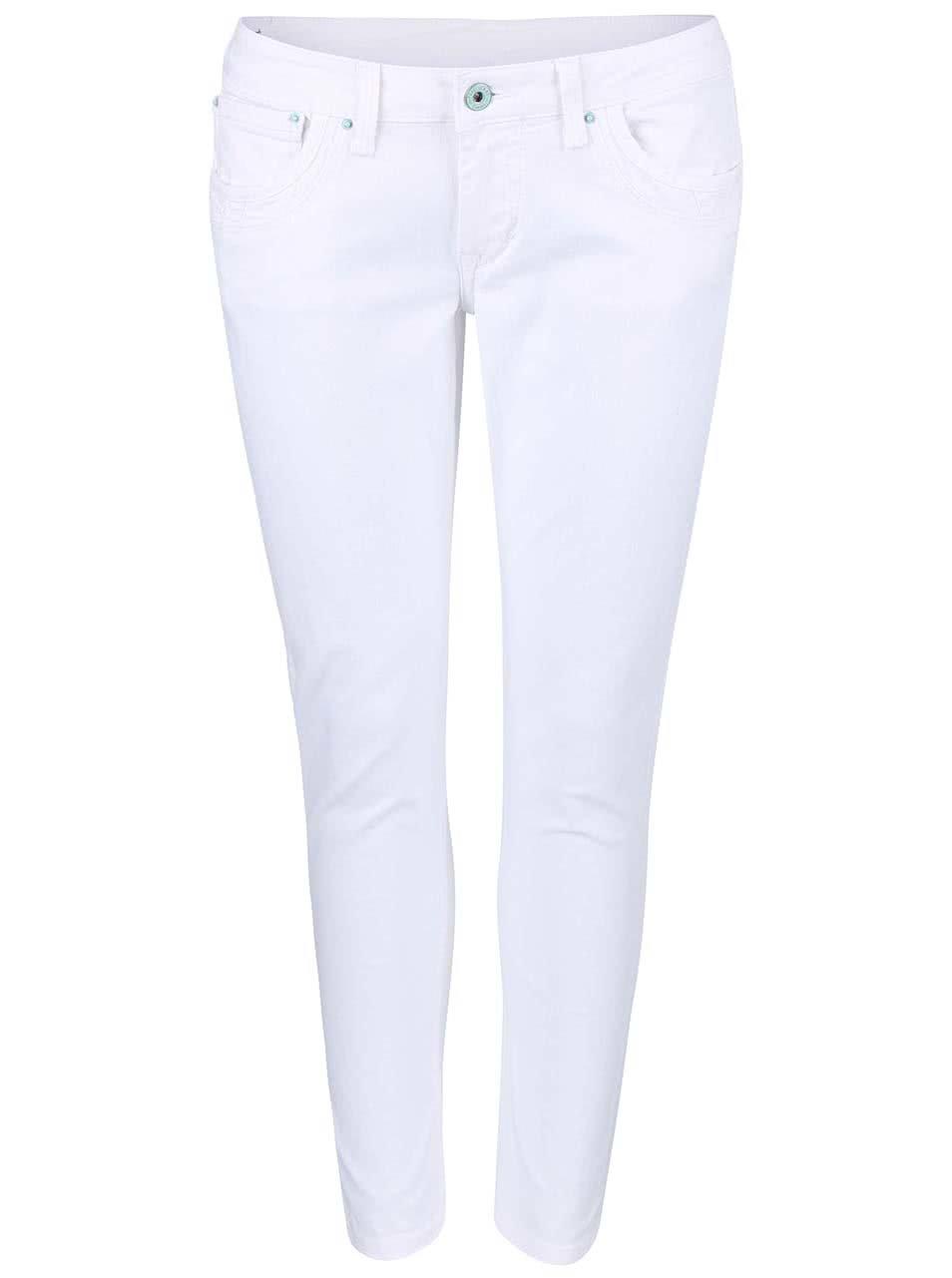 Bílé dámské slim fit džíny Pepe Jeans Ripple  df731c5331