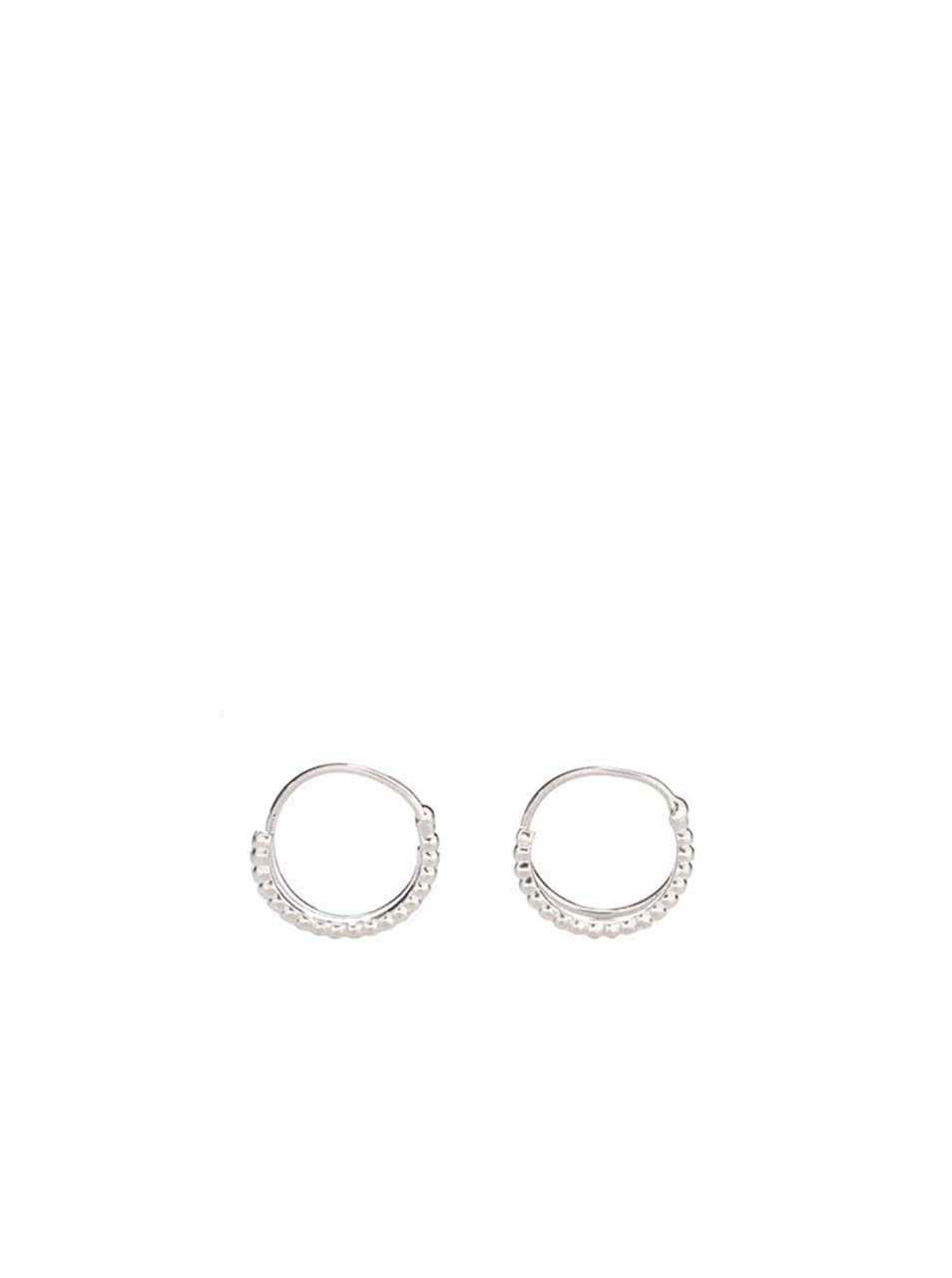 Kruhové náušnice ve stříbrné barvě Pieces Brunsa