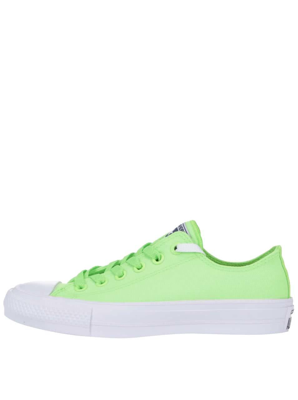 Neonově zelené dámské tenisky Converse Chuck Taylor All Star II