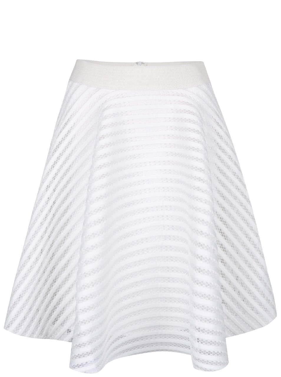 Bílá perforovaná sukně AX Paris