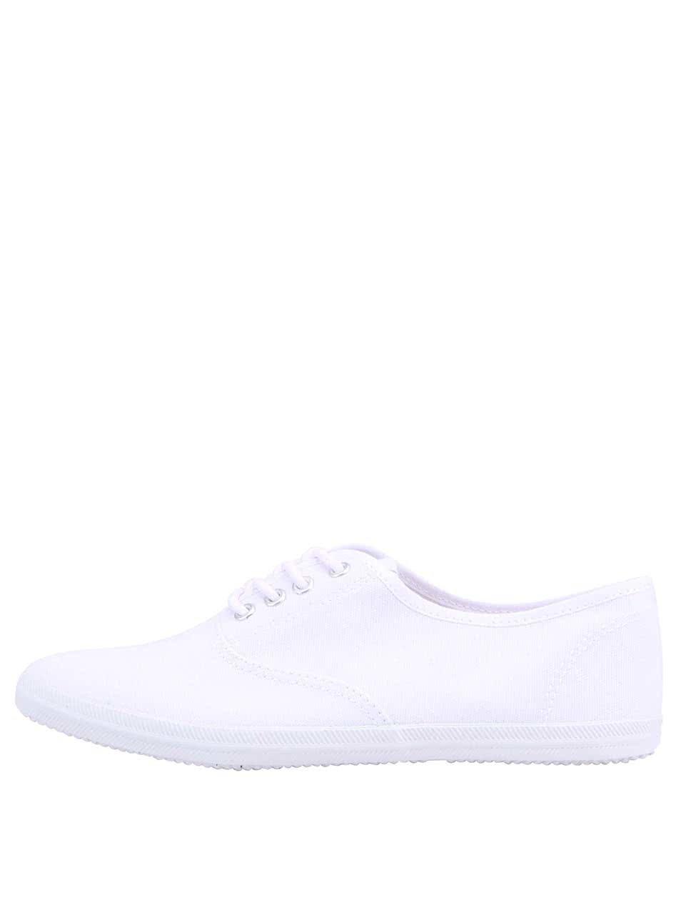 Bílé plátěné tenisky Tamaris