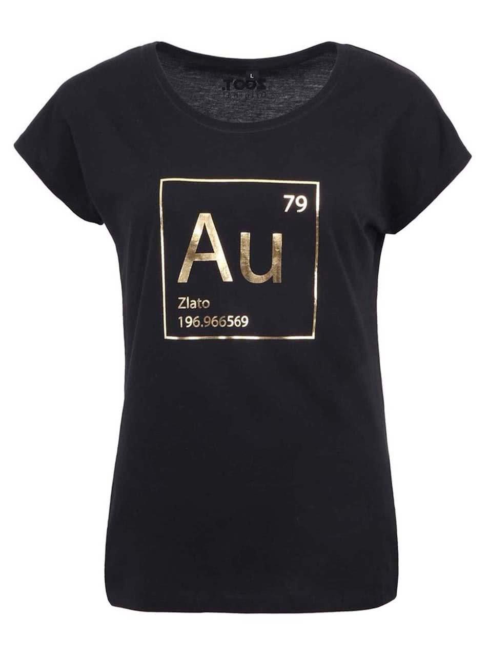 Černé dámské tričko ZOOT Originál Zlato