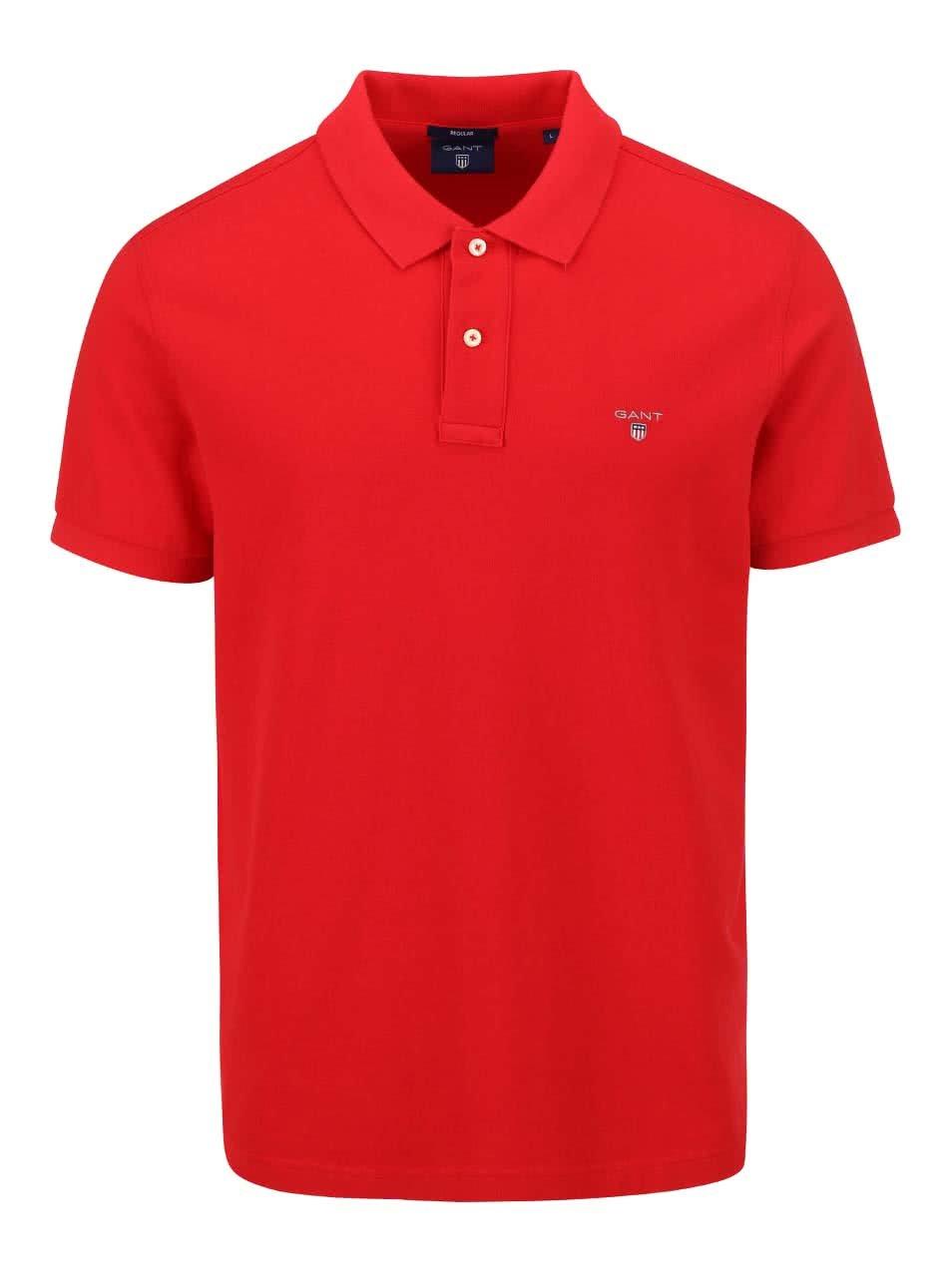 Červené pánské polo triko GANT Original Pique