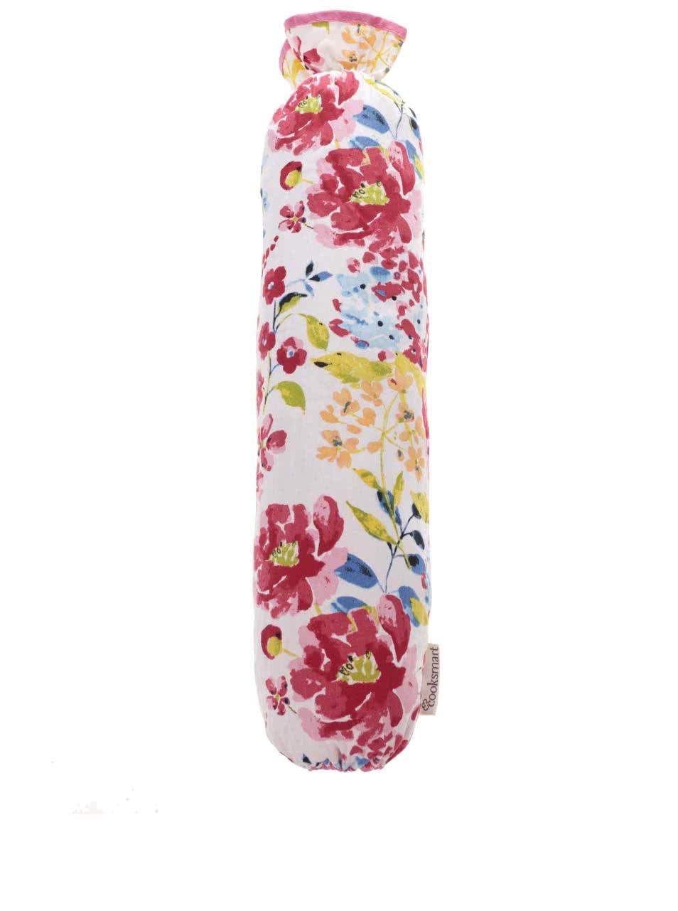 Bílý vak na igelitové tašky Cooksmart Floral Romance