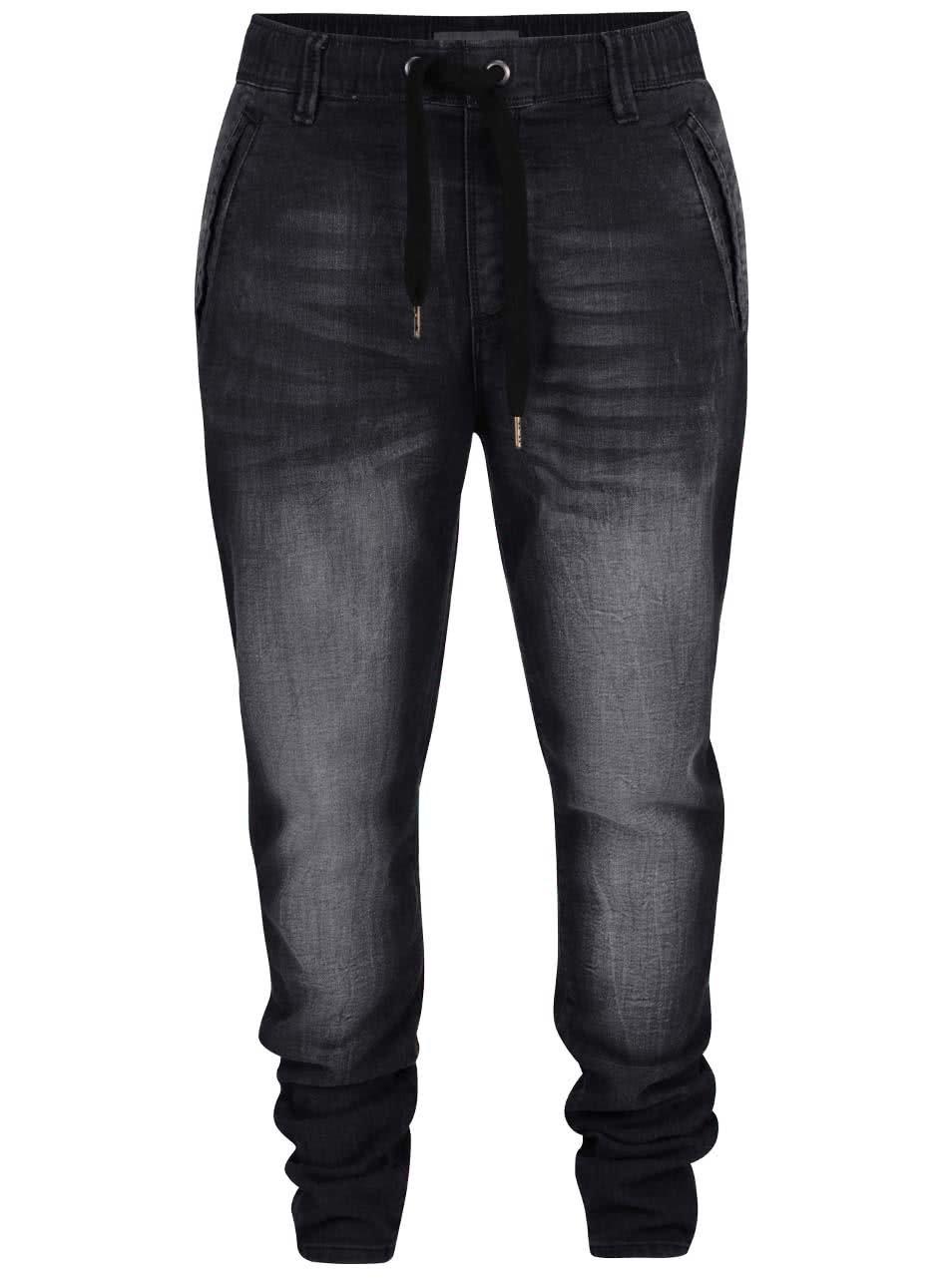 Šedo-černé pánské džíny Shine Original